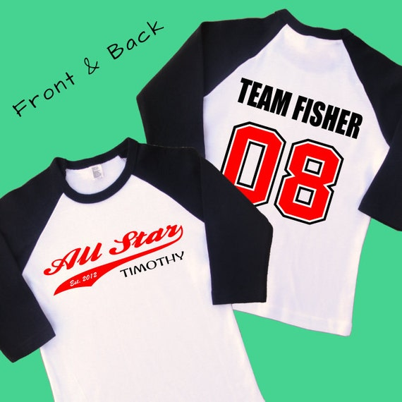 All star team number shirt birthday shirt by iheartgiggles for All star t shirts