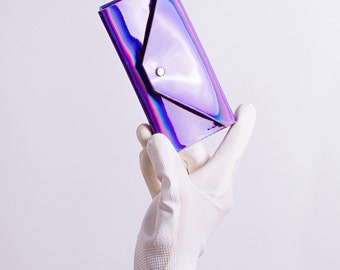violet holographic phone case for iPhone, HTC, Samsung Galaxy, Sony Xperia