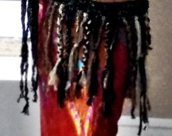 Tribal Belly Dance Belt -Black and Gold