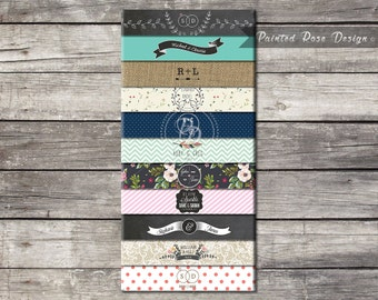 Belly Bands Wedding Invitation Suite - Add On Choose Your Design Digital Printable Made To Order