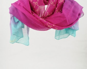 Scarf, Multicolor Scarf, Women's Scarves, for Woman, Shawl, Large Scarves, Fashion Accessories, Gift for Her, Red, Violet, Blue (VS-03-02)