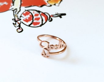 Apollo Leo Ring Horoscope Dispositor Ring The Lion Ring 18K Rose Gold Ring Adjustable Open Ring Multifinger Ring Stack Ring Birthday Gift