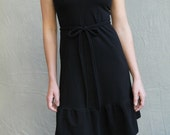 Sale, Small, Laila Dress, women's dress, little black dress, modern jersey dress- ready to ship