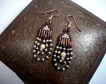 Beaded Dangle Loop Sort of Like a Hoop Earrings for Women Gift Ideas for her