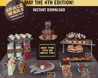 Star Wars May the 4th Be With You Party Set - INSTANT DOWNLOAD - Printable Decorations