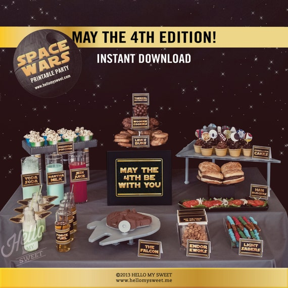 May The Fourth Be With You Toys R Us: Star Wars May The 4th Be With You Party Set INSTANT DOWNLOAD