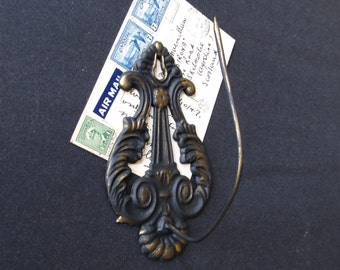 Vintage cast iron hook, receipts hook