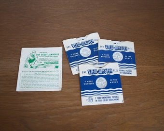 S A L E Midcentury View-Master reels Boy Scouts 1955 Eighth World Jamboree