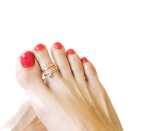 Toe Ring Gold Filled Toe Ring Adjustable Handmade Body Jewelry Summer Ring