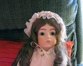 Antique Reproduction Porcelain Doll Bru Shandele 11- stunning French reproduction