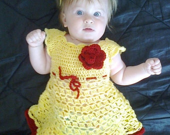 Crochet baby dress pattern, crochet baby clothing pattern, birthday dress, dress pattern, baby dress pattern