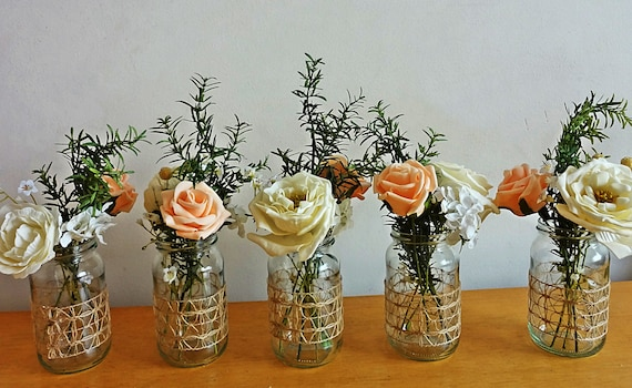 wedding flowers table decorations rustic summer wedding jar centerpieces flowers for jars 9649