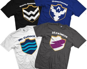 NEW Clash of Clan Shields!!! CUSTOM Clash With Your Clan T-shirts with Personalized Clan Shield, Clan Team Name,  and Member Name
