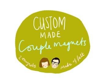 Custom Made Couple Magnets
