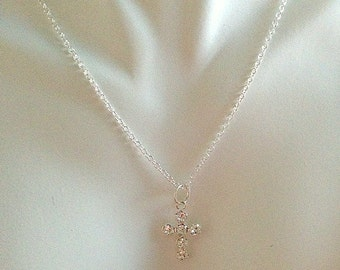 Swarovski Crystal Cross Pendant/Necklace or Earrings