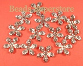15 mm Silver-Plated Bendable Flower Bead Cap - 50 pcs