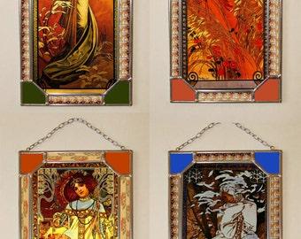 Alphonse Mucha Night Stained glass