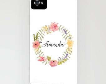 Gift for Her Personalized Name Phone Case iPhone 6 plus iPhone 5 5S iPhone 3G 3 Samsung Galaxy S5 S4