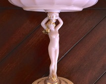 Antique Victorian Nude Figural Stem Plate 1900-1920's ...........https://www.etsy.com/shop/CoCoBlueTreasures