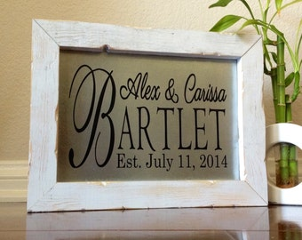 Unique Wedding Gifts For Couple Personalized Wedding Gift Rustic Sign Wood And Metal Last Name Sign