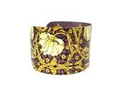 Boho Fashion - Boho Chic Bracelet - William Morris - Aluminum Cuff Bracelet - Botanical Cuff Bracelet - Victorian Bracelet - Sku R16-016