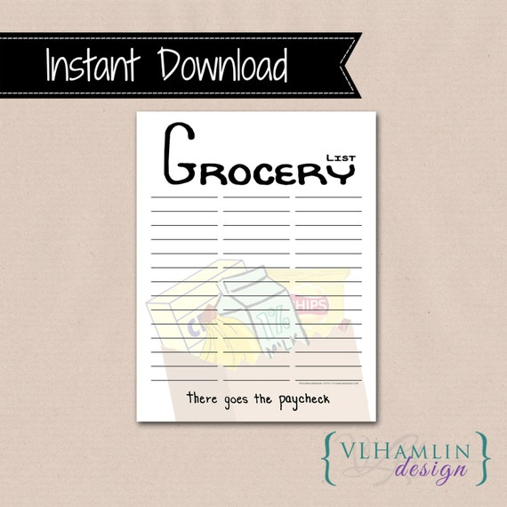 Printable Blank Shopping Lists for Groceries and More!