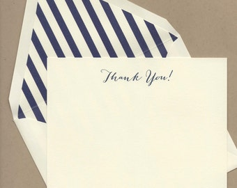 Striped Thank You Notes