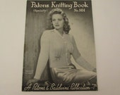 Vintage (1940s) knitting pattern book, Patons No 161 (Specialty) edition, knitted sleepwear for women