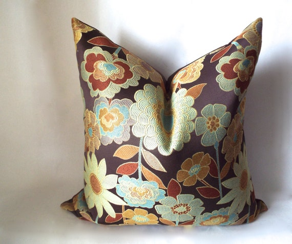 Brown Pillow Decorative Pillows Burnt Orange By SewDeevinePillows