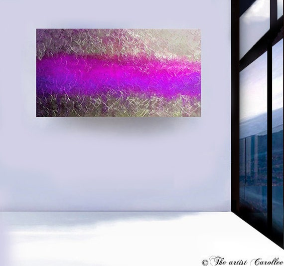 Abstract painting modern art. original painting, acrylic art, metallic silver, purple,contemporary painting canvas by Leearte