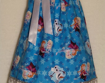 Frozen ELSA & ANNA Pillowcase Dress / SISTERS Forever / Birthday/ Blue / Chevron /Disney/ Disney Inspired/ Girl/ Toddler / Custom Boutique