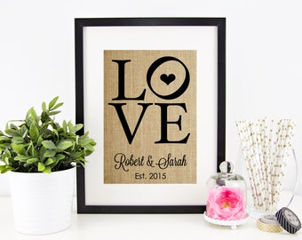 Rustic Wedding Decor | Burlap Print | Shabby Chic Wedding Decoration | Personalized Burlap Wedding Decor | Reception Decor