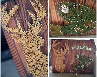Popular items for string art patterns on etsy for Fish string art