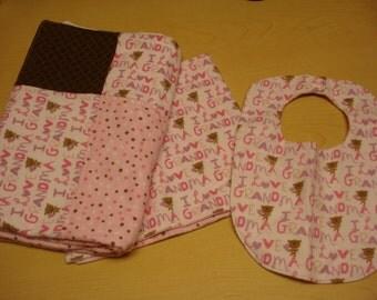 I love Grandma blanket and bib set!