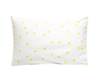 Polka Dot Screenprinted Pillowcase - Tencel