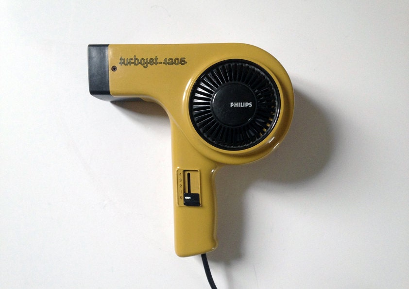retro hair dryer philips turbo jet 1205 made in west. Black Bedroom Furniture Sets. Home Design Ideas