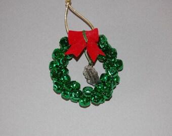 Mini Jingle Bells Wreath ~ Green