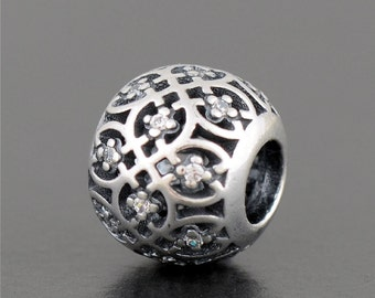 Authentic Genuine Pandora Sterling Silver Intricate Lattice Charm - 791295CZ NEW