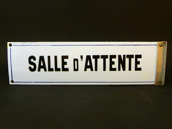 Plaque maill e ancienne ann es 50 made in par sofrenchvintage for Plaque emaillee ancienne cuisine
