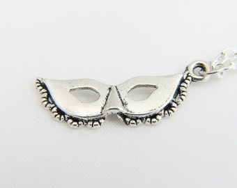 Masquerade Mask Necklace,  Mardi Gras Mask necklace,Mask jewelry,Masquerade jewelr,  Parade Mask- Personalized Necklace