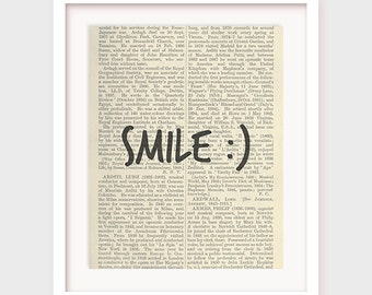 Instant Art, Smile :), Wisdom Decor, Short Saying, Happy Artwork, Printable Art, Instant Download