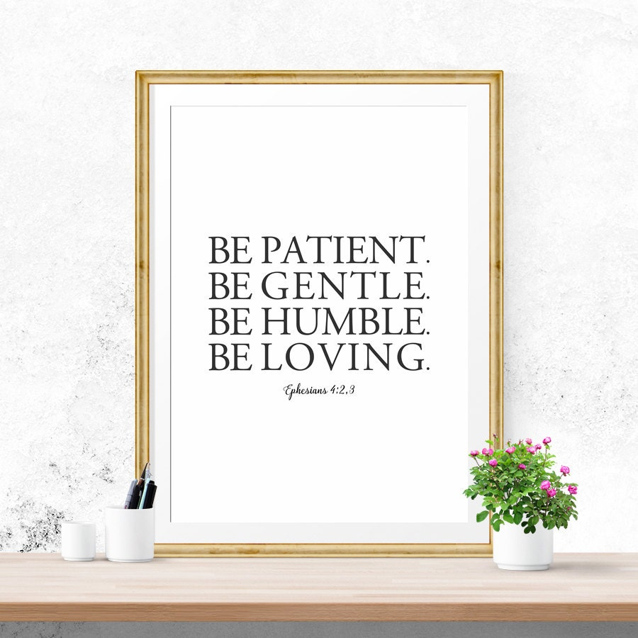 Bible Verse Wall Art sale bible verse wall art be patient be gentle be humble