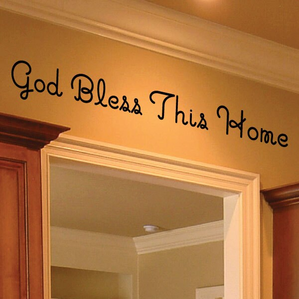god bless this home wall decor 0035 wall decals wall. Black Bedroom Furniture Sets. Home Design Ideas