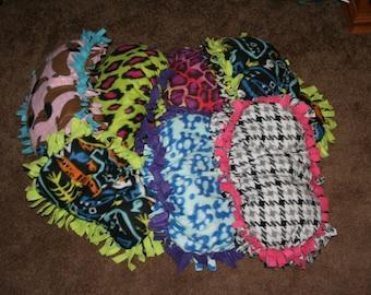 Handmade Fleece & Polyfil Pet Bed