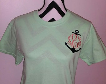 Anchor Monogram, Anchor Shirt, Monogram Shirt
