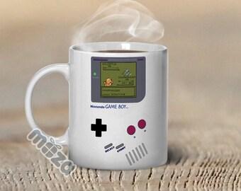 Pokemon Mug Nintendo Gameboy Inspired Customized 11oz Coffee Mug - Great Gift for Gamers, Ash Ketchum, Nerd, Geekery