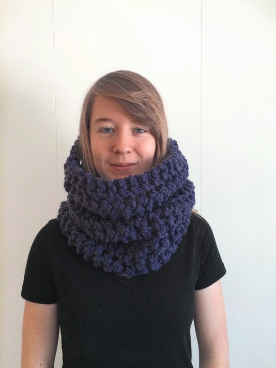 Snowman Knitting Patterns : SALE Chunky Knitted Scarf Cowl knit scarf knit cowl gifts