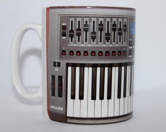 Custom Printed Novation Impulse Keyboard controller Music producer DJ Mug / Mugs perfect for a Gift DJ Kitchen Work Office Studio Cup