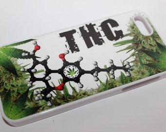 Custom Printed Weed cannabis Leaf THC hemp Apple iphone 4 4s 5 5s 5c 6 6 plus case cover