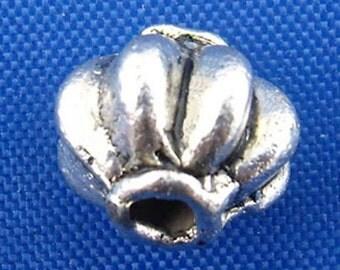 55PCs Tibetan Silver Spiral Lantern Spacers Beads 8mm